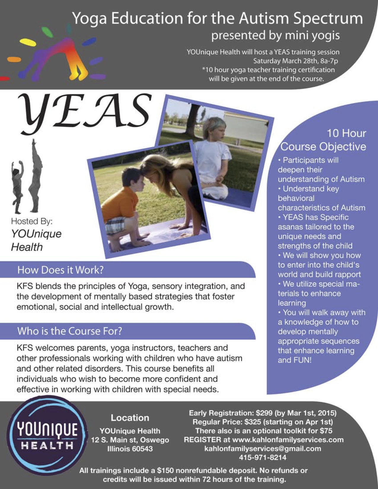 YEAS Flyer mini yogis chicago